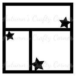 Stars - Scrapbook Page Overlay Die Cut - Choose a Color