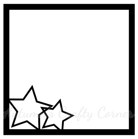 Stars - Scrapbook Page Overlay