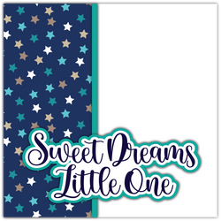 Sweet Dreams Little One - Printed Premade Scrapbook Page 12x12 Layout