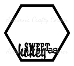 Sweet as Honey - Octagon Scrapbook Page Overlay Die Cut - Choose a Color