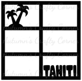 Tahiti - 6 Frames - Scrapbook Page Overlay Die Cut - Choose a Color