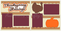 Thanksgiving Blessings - Scrapbook Page Kit