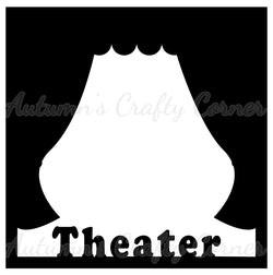 Theater - Curtains - Scrapbook Page Overlay Die Cut - Choose a Color