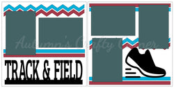 Track & Field - Scrapbook Page Kit