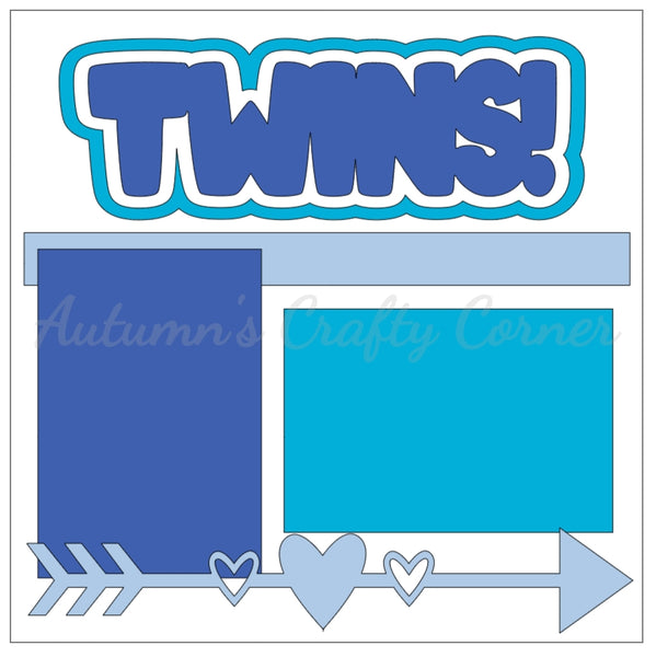 Twins! - Boy - Single Scrapbook Page Kit