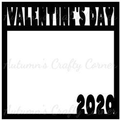 Valentine's Day 2020 - Scrapbook Page Overlay Die Cut - Choose a Color