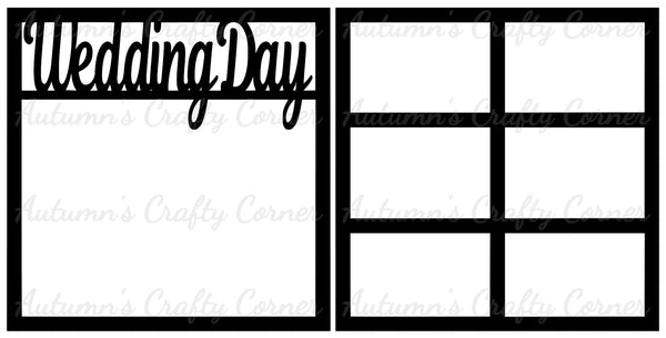 Wedding Day - Scrapbook Page Overlay Set - Choose a Color