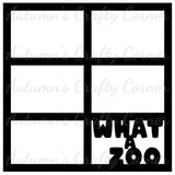 What a Zoo - 6 Frames - Scrapbook Page Overlay Die Cut - Choose a Color