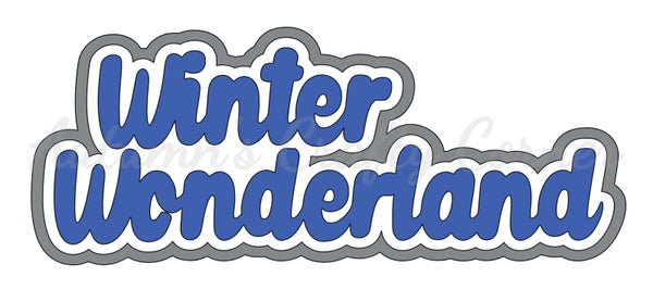 Winter Wonderland - Deluxe Scrapbook Page Title