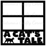 A Cat's Tale - 4 Frames - Scrapbook Page Overlay Die Cut - Choose a Color
