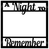A Night to Remember - Scrapbook Page Overlay Die Cut - Choose a Color