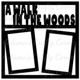 A Walk in the Woods - 2 Vertical Frames - Scrapbook Page Overlay Die Cut - Choose a Color