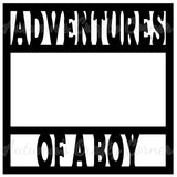 Adventures of a Boy - Scrapbook Page Overlay Die Cut - Choose a Color