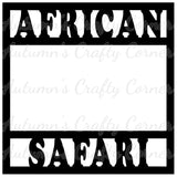 African Safari - Scrapbook Page Overlay Die Cut - Choose a Color