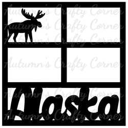 Alaska - 4 Frames - Scrapbook Page Overlay Die Cut - Choose a Color