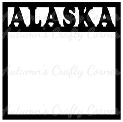 Alaska - Scrapbook Page Overlay Die Cut - Choose a Color