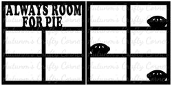 Always Room for Pie - Scrapbook Page Overlay Set - Choose a Color