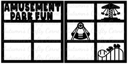 Amusement Park Fun - Scrapbook Page Overlay Set - Choose a Color