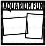 Aquarium Fun - 2 Frames - Scrapbook Page Overlay Die Cut - Choose a Color