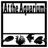 At the Aquarium - Scrapbook Page Overlay Die Cut - Choose a Color