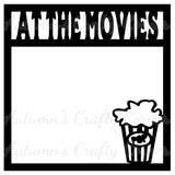 At the Movies - Scrapbook Page Overlay Die Cut - Choose a Color