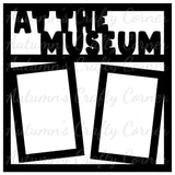 At the Museum - 2 Vertical Frames - Scrapbook Page Overlay Die Cut - Choose a Color