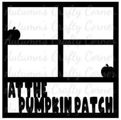 At the Pumpkin Patch - 4 Frames - Scrapbook Page Overlay Die Cut - Choose a Color