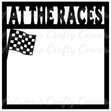 At the Races - Scrapbook Page Overlay Die Cut - Choose a Color