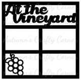 At the Vineyard - 4 Frames - Scrapbook Page Overlay Die Cut - Choose a Color