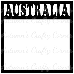 Australia - Scrapbook Page Overlay Die Cut - Choose a Color