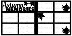 Autumn Memories - Scrapbook Page Overlay Set - Choose a Color