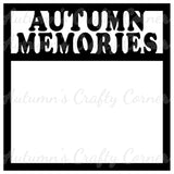 Autumn Memories - Scrapbook Page Overlay Die Cut - Choose a Color