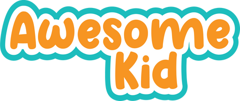 Awesome Kid - Scrapbook Page Title Sticker