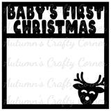 Baby's First Christmas - Scrapbook Page Overlay Die Cut - Choose a Color
