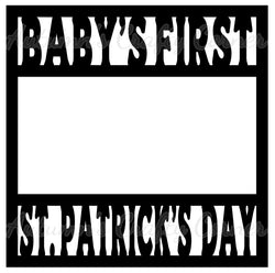 Baby's First St. Patrick's Day - Scrapbook Page Overlay Die Cut - Choose a Color