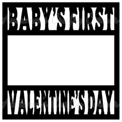 Baby's First Valentine's Day - Scrapbook Page Overlay Die Cut - Choose a Color
