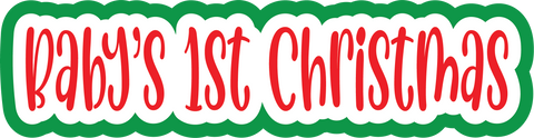 Baby's 1st Christmas - Scrapbook Page Title Sticker