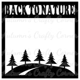 Back to Nature - Hills - Trees - River - Scrapbook Page Overlay Die Cut - Choose a Color