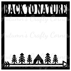 Back to Nature - Tent Trees & Arrow - Scrapbook Page Overlay Die Cut - Choose a Color
