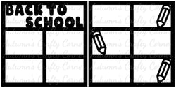 Back to School - Scrapbook Page Overlay Set - Choose a Color