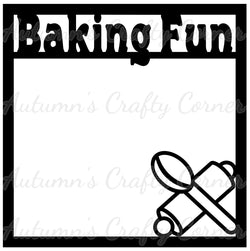 Baking Fun - Scrapbook Page Overlay Die Cut - Choose a Color