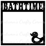 Bathtime - Duck - Scrapbook Page Overlay Die Cut - Choose a Color