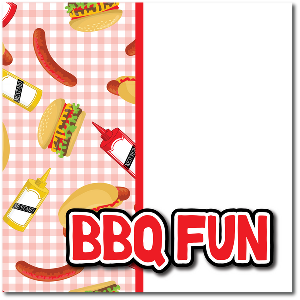 BBQ Fun - Printed Premade Scrapbook Page 12x12 Layout