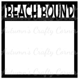 Beach Bound - Scrapbook Page Overlay Die Cut - Choose a Color