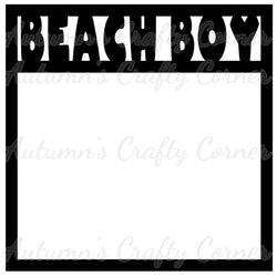 Beach Boy - Scrapbook Page Overlay Die Cut - Choose a Color