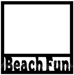 Beach Fun - Scrapbook Page Overlay Die Cut - Choose a Color