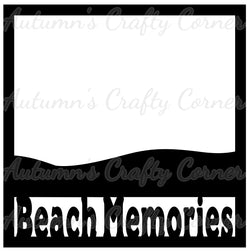 Beach Memories - Scrapbook Page Overlay Die Cut - Choose a Color