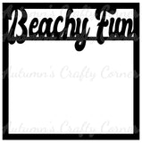 Beachy Fun - Scrapbook Page Overlay Die Cut - Choose a Color