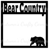 Bear Country - Scrapbook Page Overlay Die Cut - Choose a Color