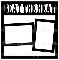 Beat the Heat - 2 Frames - Scrapbook Page Overlay Die Cut - Choose a Color